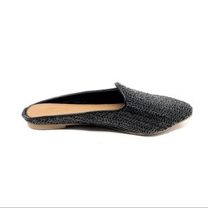 "Universal Thread ""Violet"" Black Woven Mules"